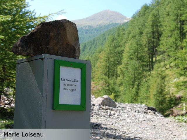 Parcours artistique et po tique in situ sur un chemin de randonn e de montagne vall e de - Garage nicolas champ sur drac ...